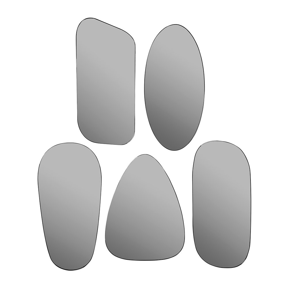 Broste Copenhagen - Art Mirrors - Set of 5 - Grey