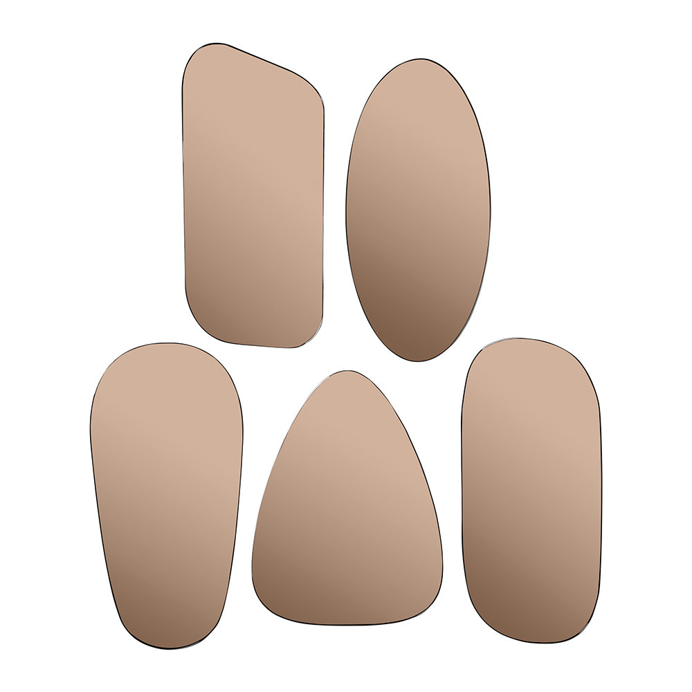 Broste Copenhagen - Art Mirrors - Set of 5 - Copper