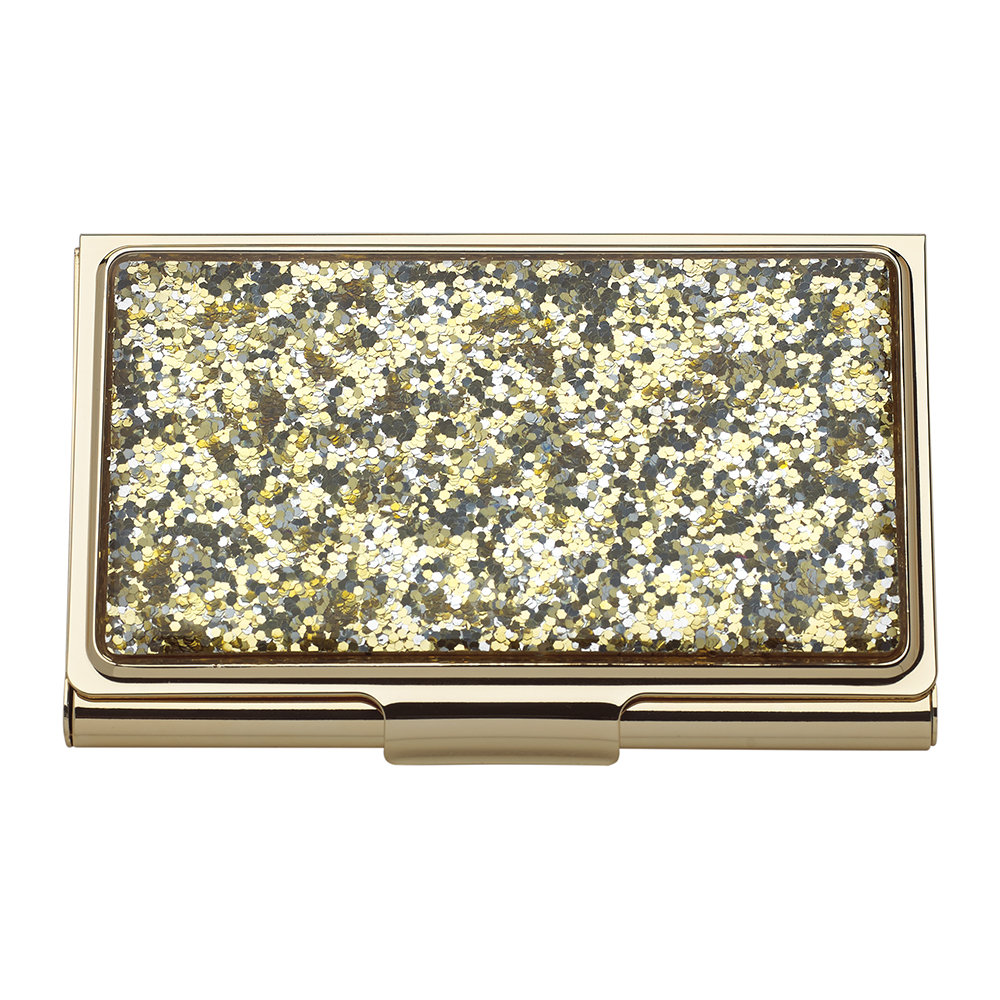 kate spade new york - Simply Sparkling Card Holder - Gold