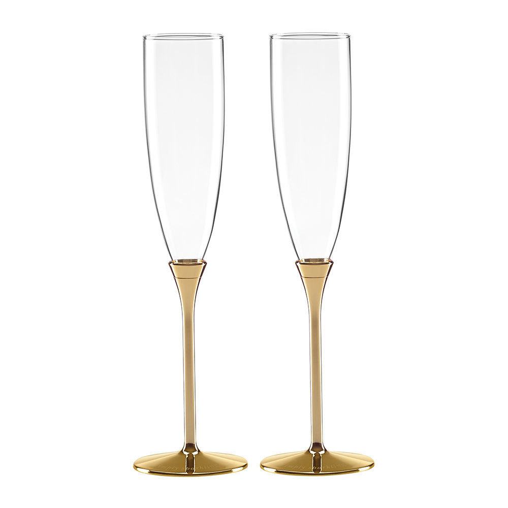 kate spade new york - Simply Sparkling Champagne Flutes - Set of 2 - Gold