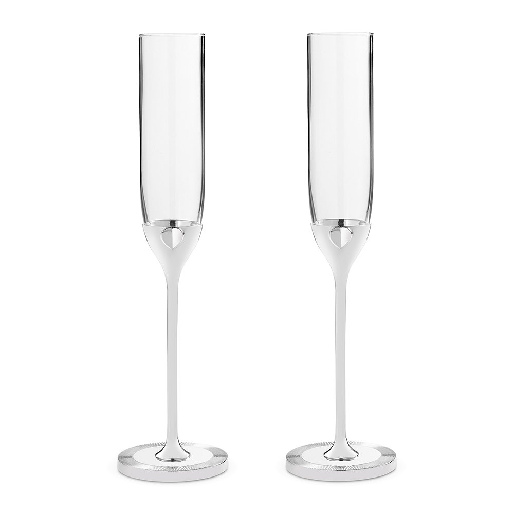 Vera Wang for Wedgwood Vera Wang for Wedgwood – Love Always Toasting Flutes – Set of 2