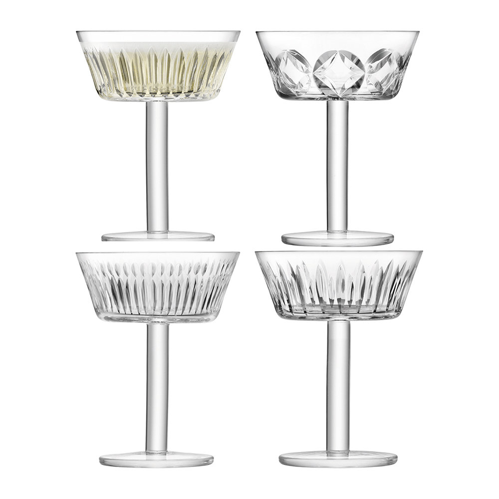 LSA International - Tatra Champagne Saucer - Set of 4 - Assorted