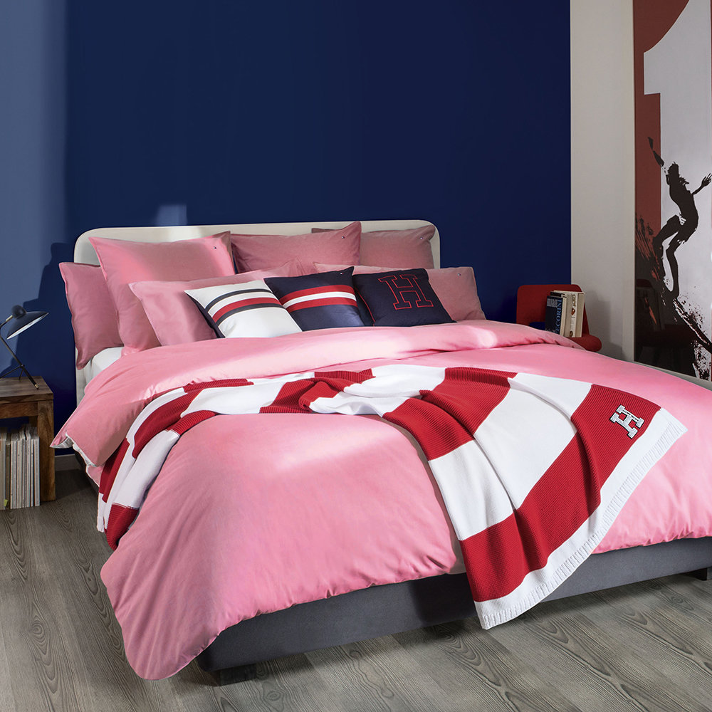 Acheter tommy hilfiger housse de couette chambray rose for Acheter couette
