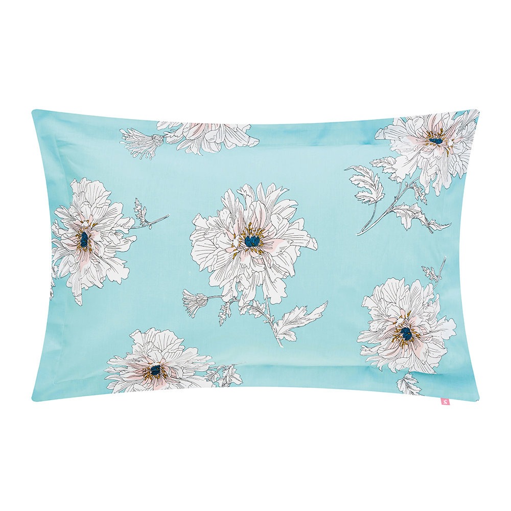 Joules  Linear Peony Pillowcase  Oxford