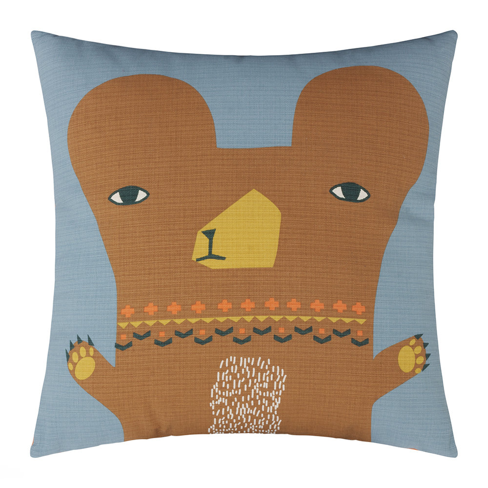 Donna Wilson - Bear Reversible Cushion - Grey/Orange