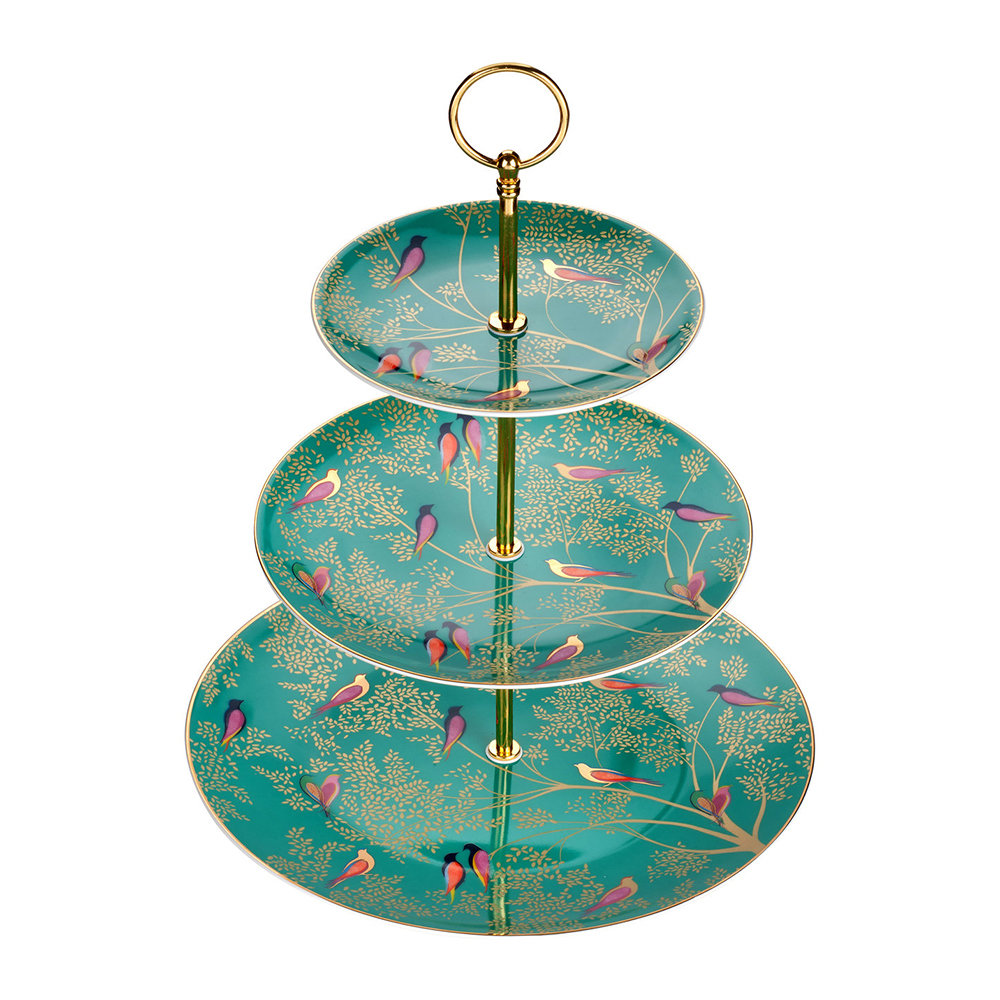 Sara Miller - Chelsea Collection 3 Tier Cake Stand - Green