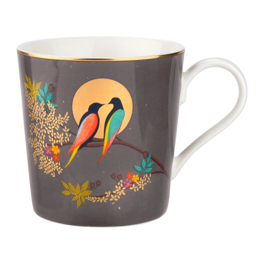 Sara Miller - Chelsea Collection Mug - Dark Grey - Dark Grey