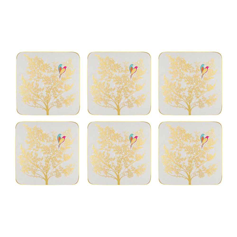 Sara Miller - Chelsea Collection Coasters - Light Grey - Set of 6