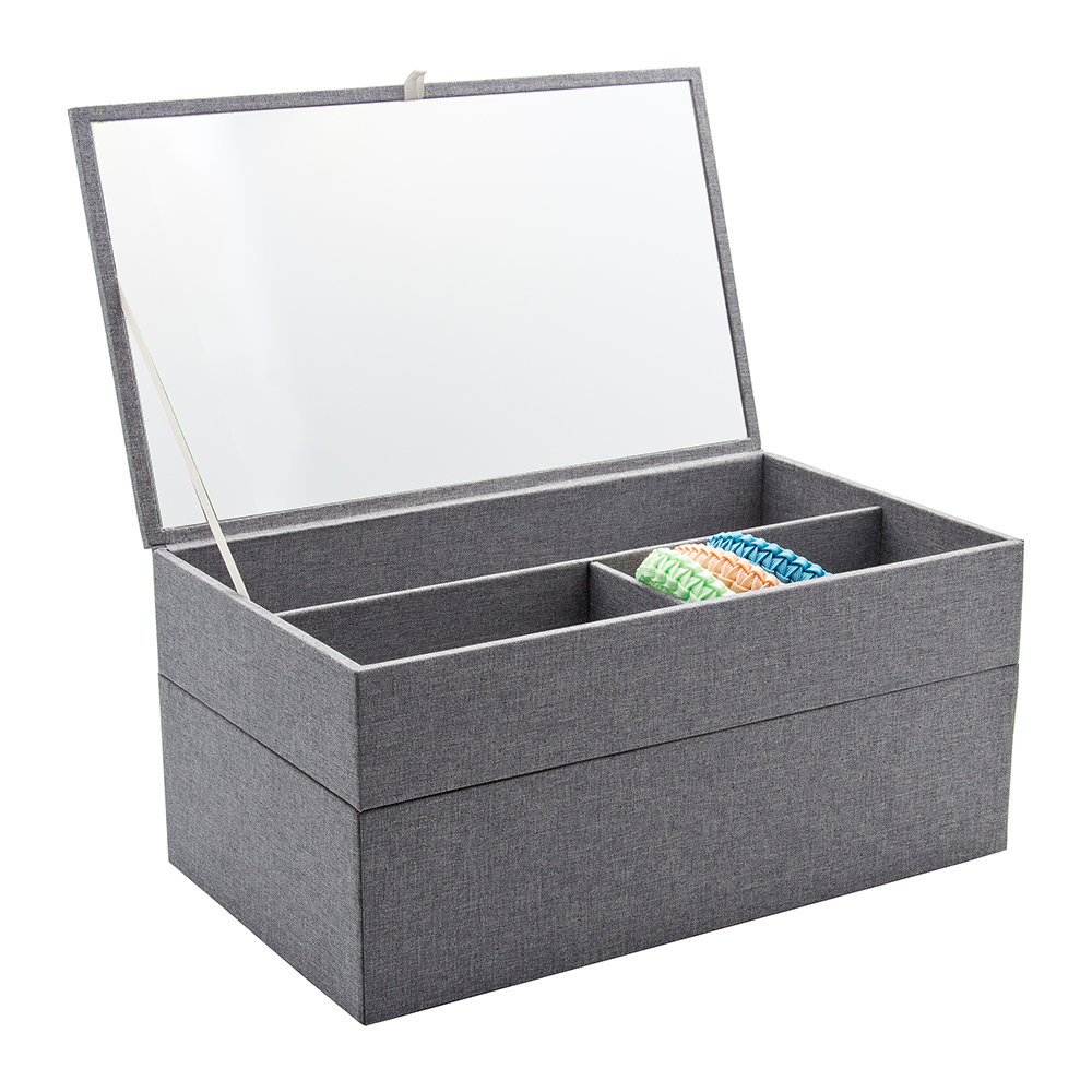 Lund London Lund London – Cardigan Classic Jewellery Box – Grey – Medium