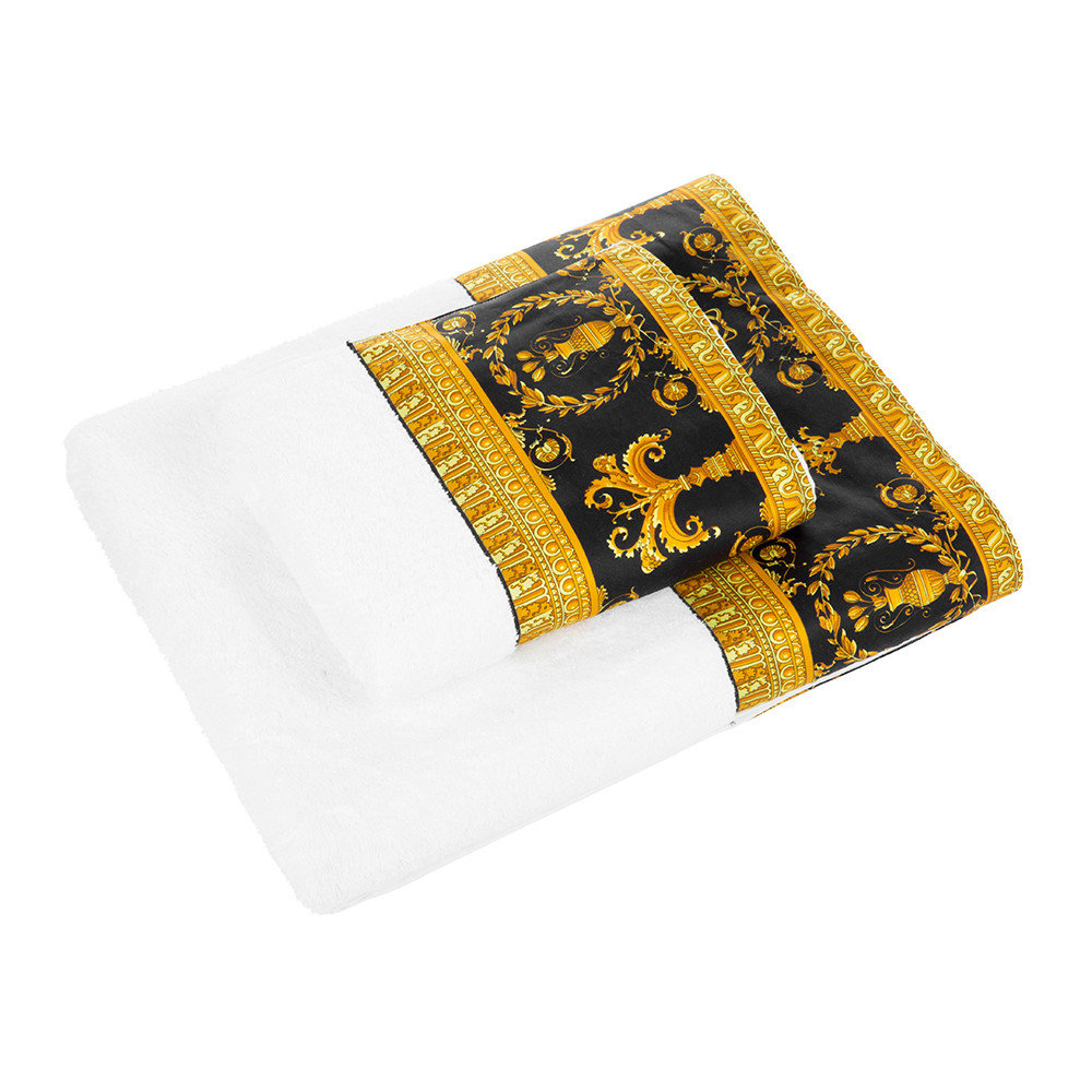Buy Versace Home Barocco Amp Robe Towel White Gold Black