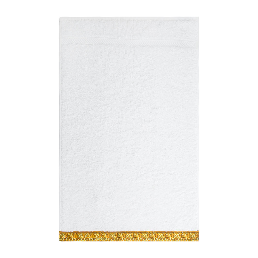 0650eb24d342 Buy Versace Home Barocco Robe Towel - White Gold