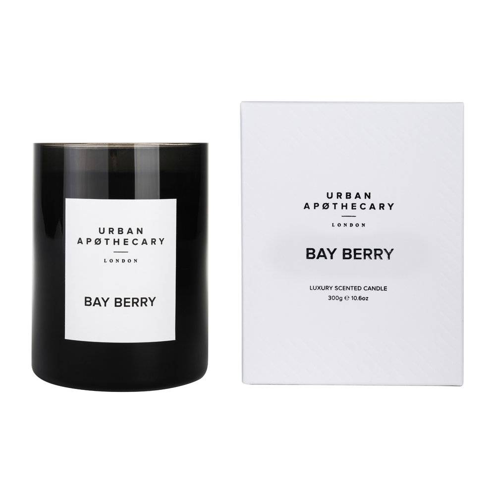Urban Apothecary London - Luxury Scented Candle - Black Glass - Bay Berry