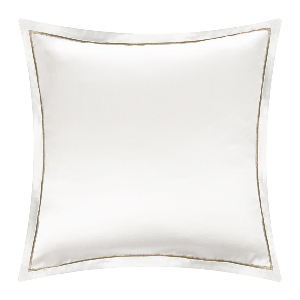 Gingerlily  Boston Silk Pillowcase  White/Sand  65x65cm
