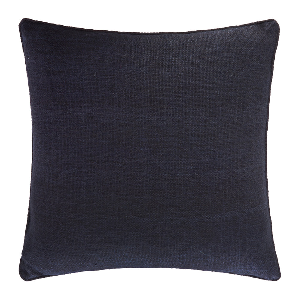 Gingerlily  St Mawes Silk Cushion  50x50cm  Navy