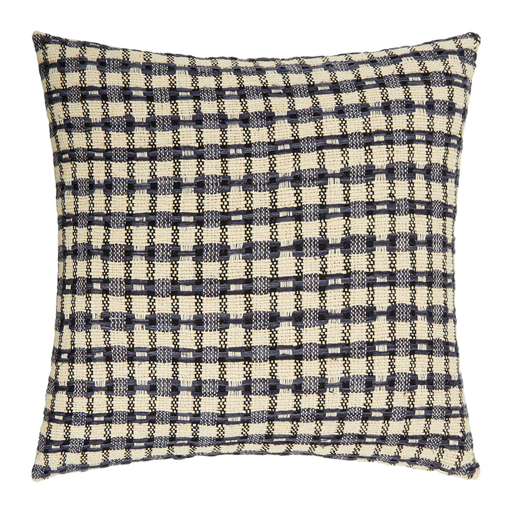 Gingerlily  St Mawes Silk Cushion  50x50cm  Check
