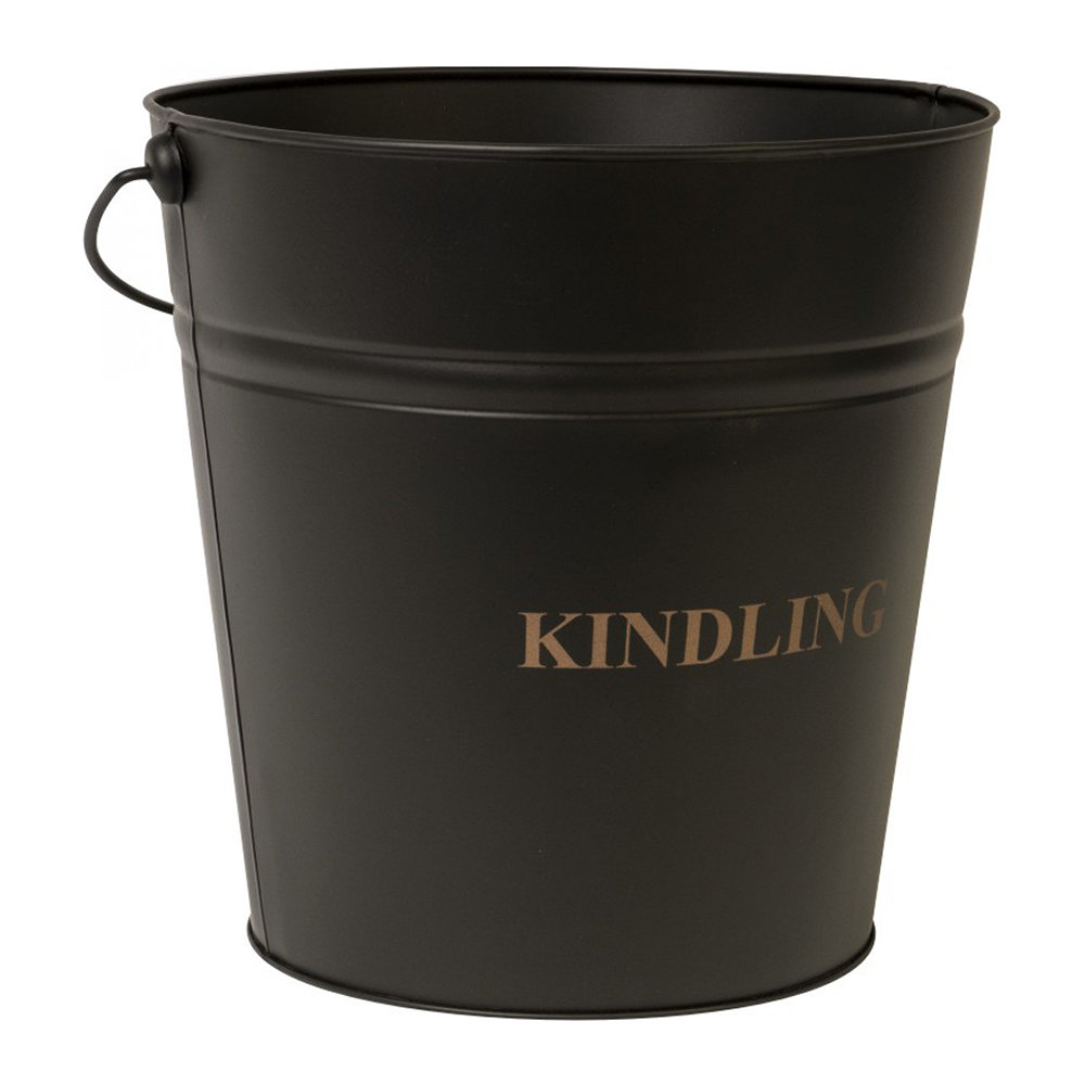 Iron  Clay - Kindling Bucket - 30cm - Black Iron