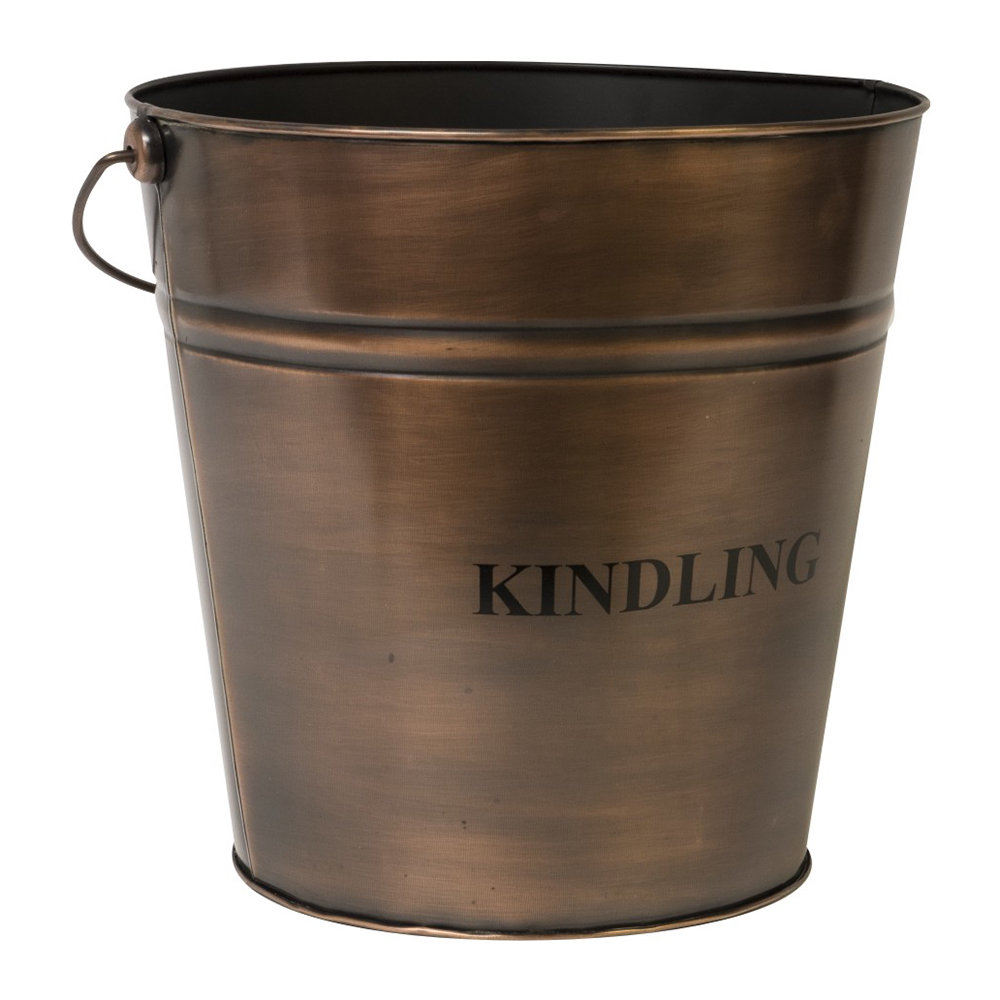 Iron  Clay - Kindling Bucket - 30cm - Copper