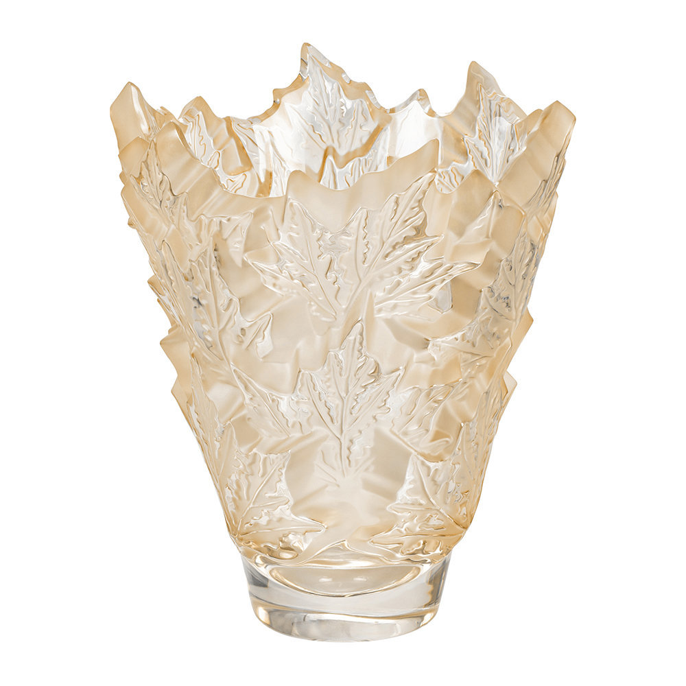Lalique - Champs-Elysees Vase - Gold Luster - Large
