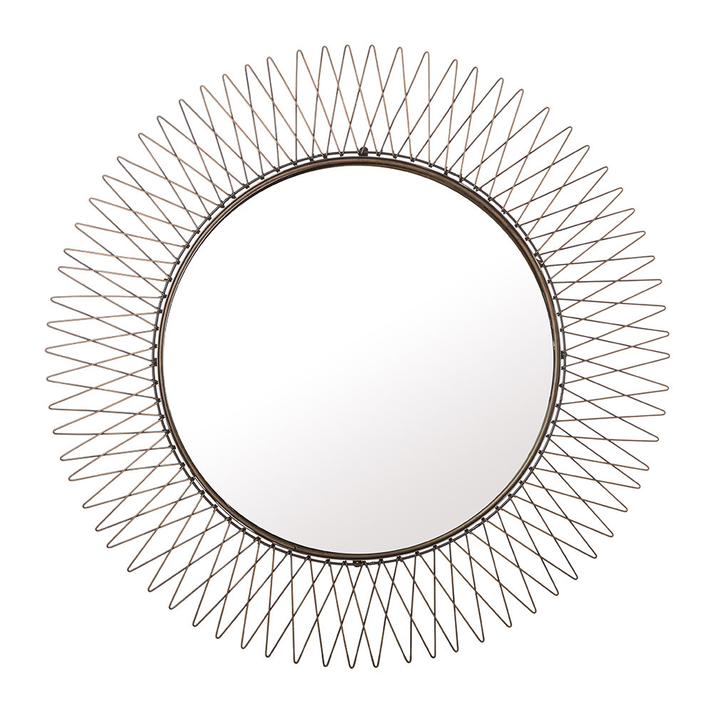 Kariba 40x25cm mirror antique brass octer for Miroir 90 x 40