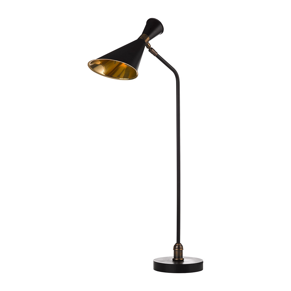 Buy Pols Potten Black/Brass Desk Lamp | Amara