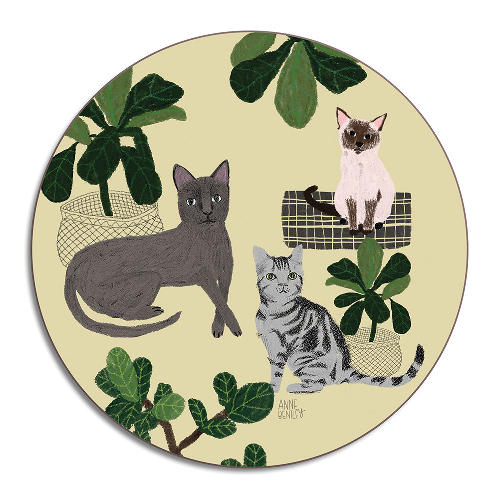 Avenida Home - Anne Bentley Placemat - Cats