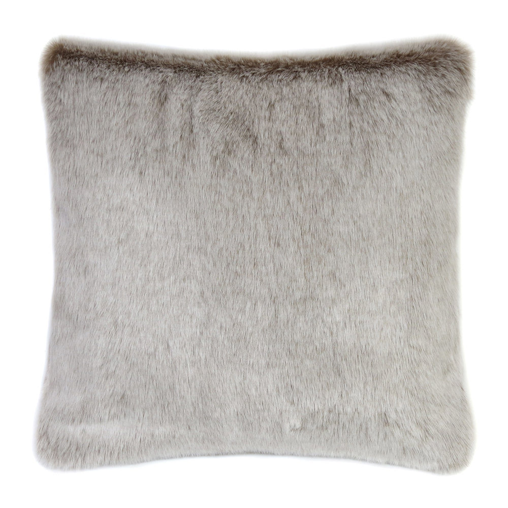 Helen Moore - Faux Fur Latte Cushion - 40x40cm