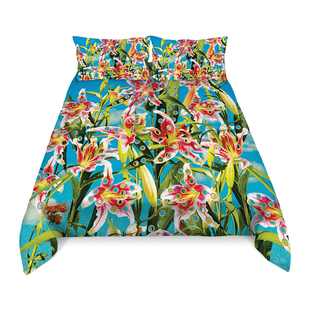 Seletti wears Toiletpaper - Flowers Duvet Set - King - Flowers