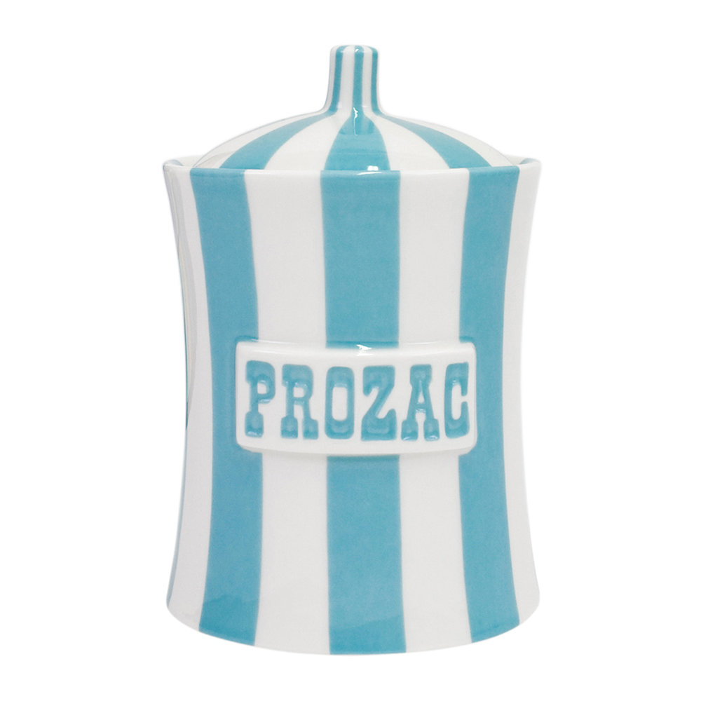 Jonathan Adler - Vice Canister - Prozac - Light Blue/White