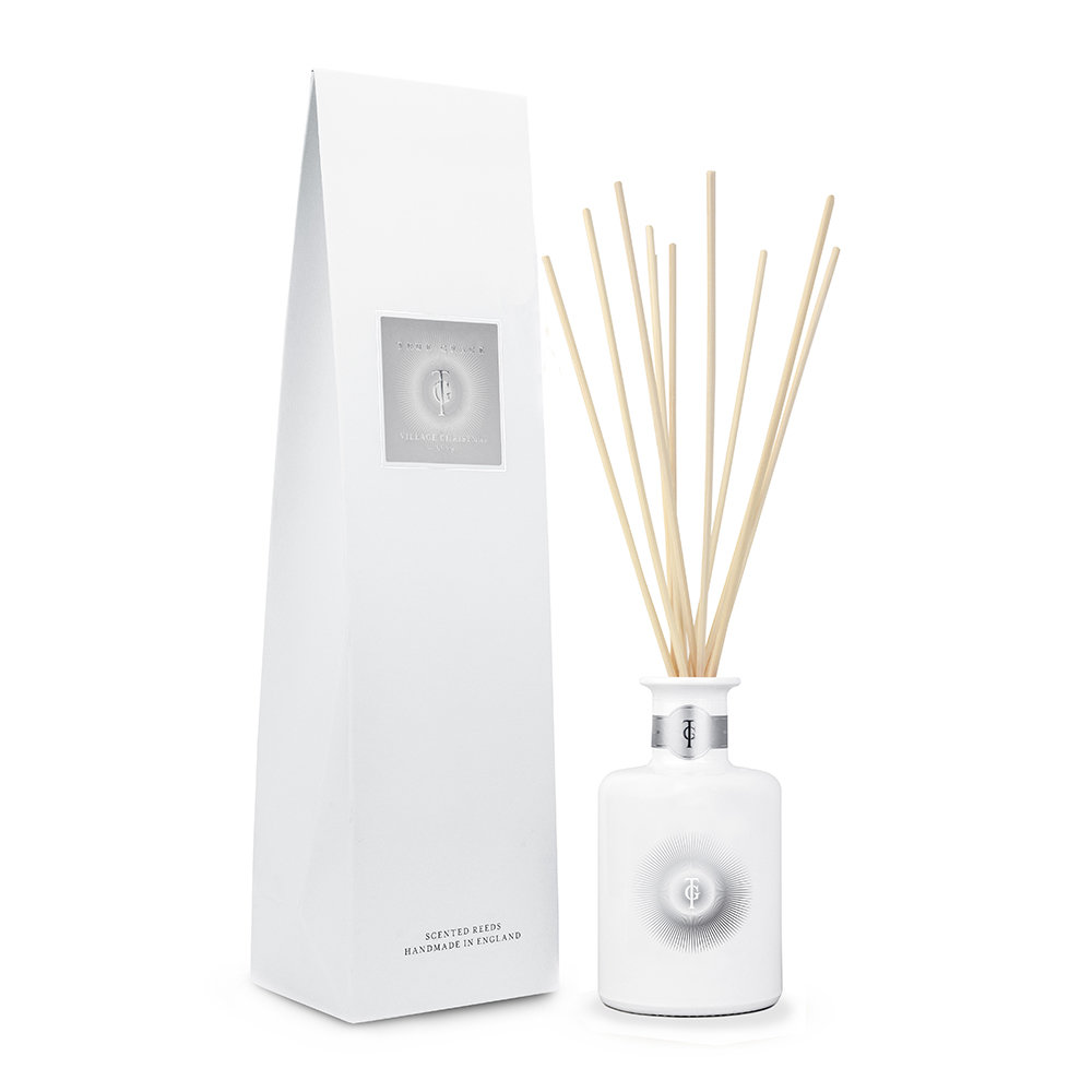 True Grace  Christmas White Village Reed Diffuser