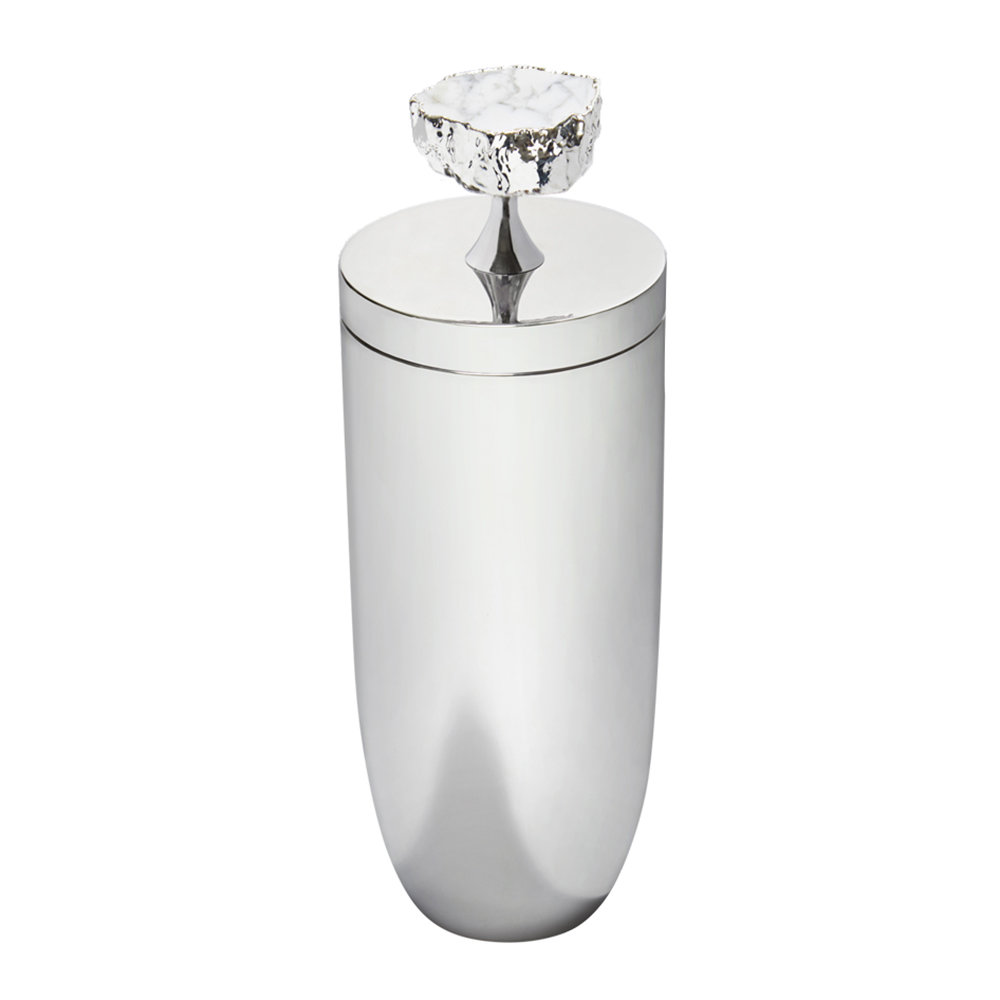 Anna New York - Heritage Cocktail Shaker - Snowy Turquoise/Silver