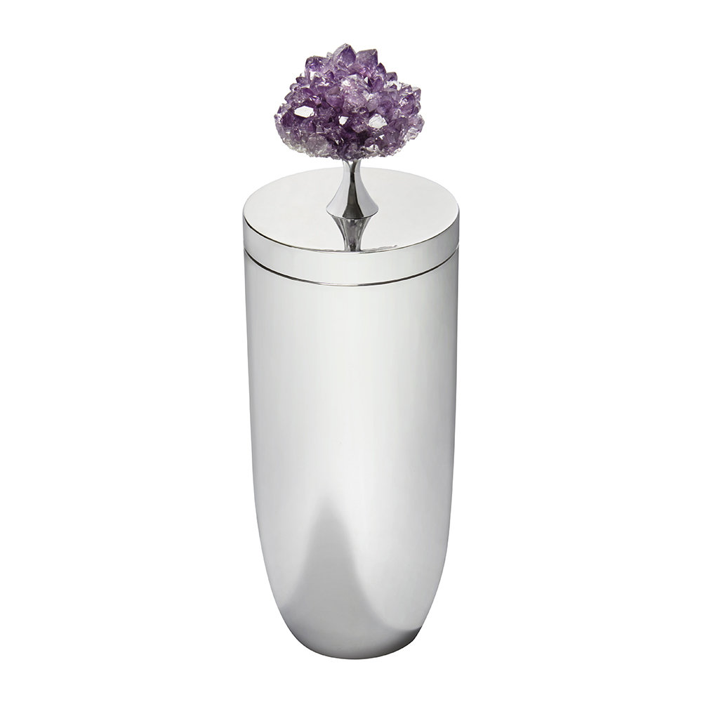 Anna New York - Heritage Cocktail Shaker - Amethyst/Silver
