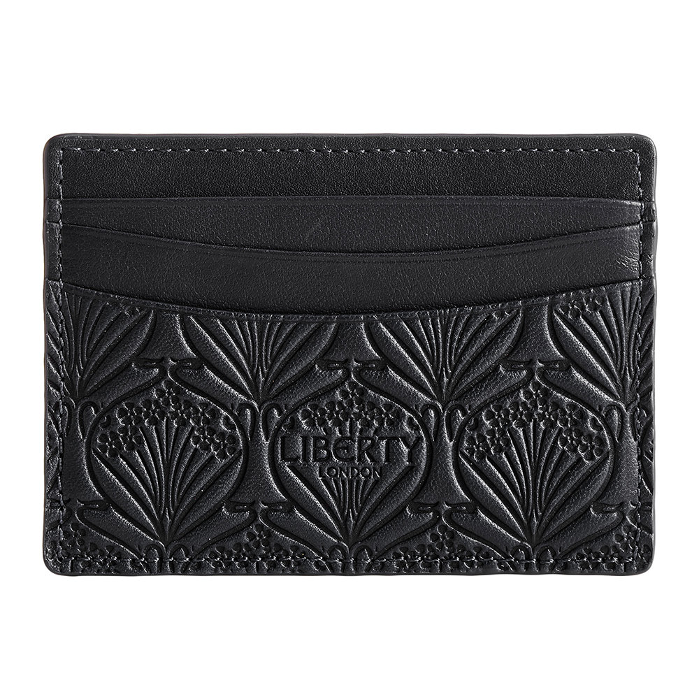 Photo of Liberty London - Embossed Card Holder - Black - shop Liberty London Handbags, Clutches & Special Occasion Bags online