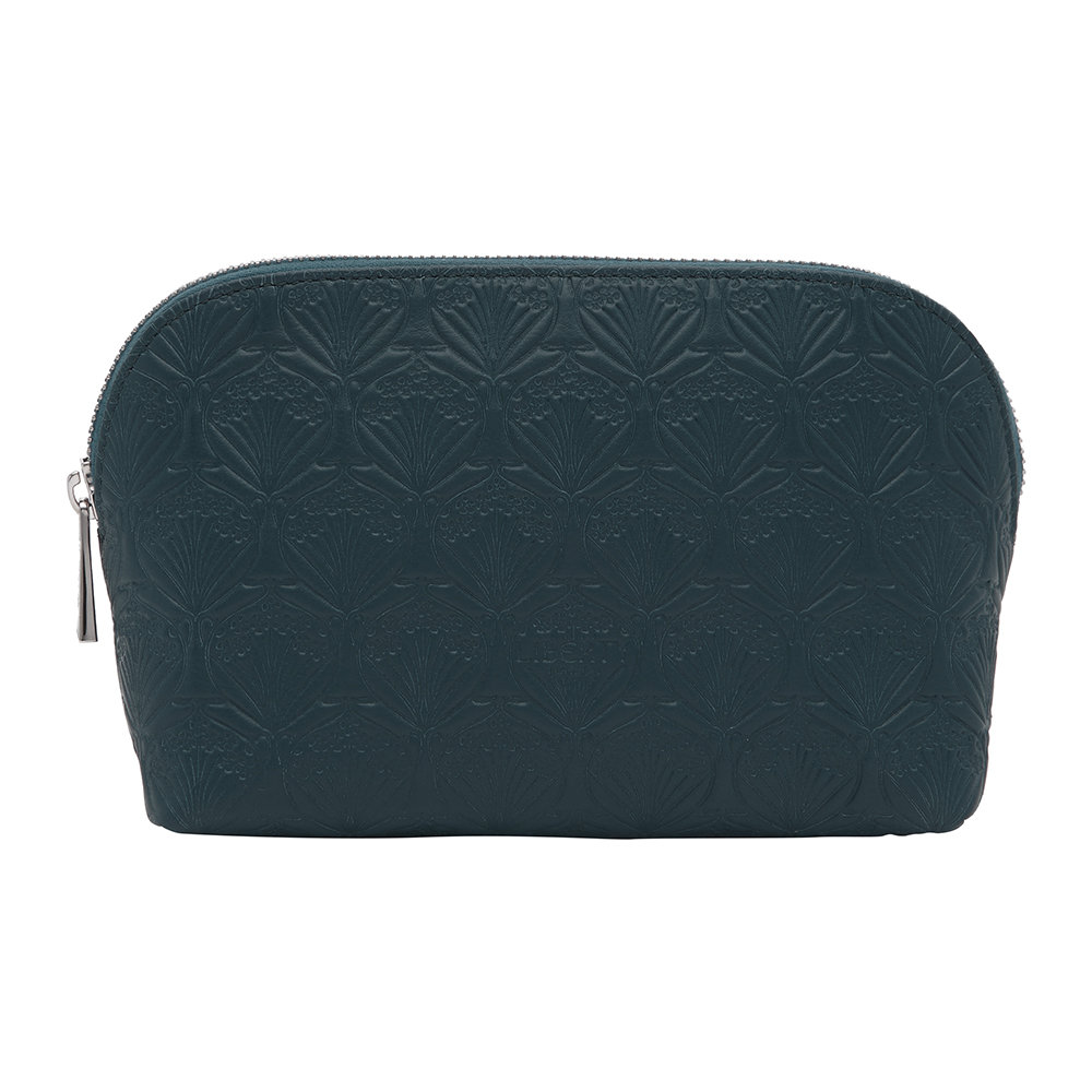 Liberty London - Embossed Cosmetic Bag - Petrol