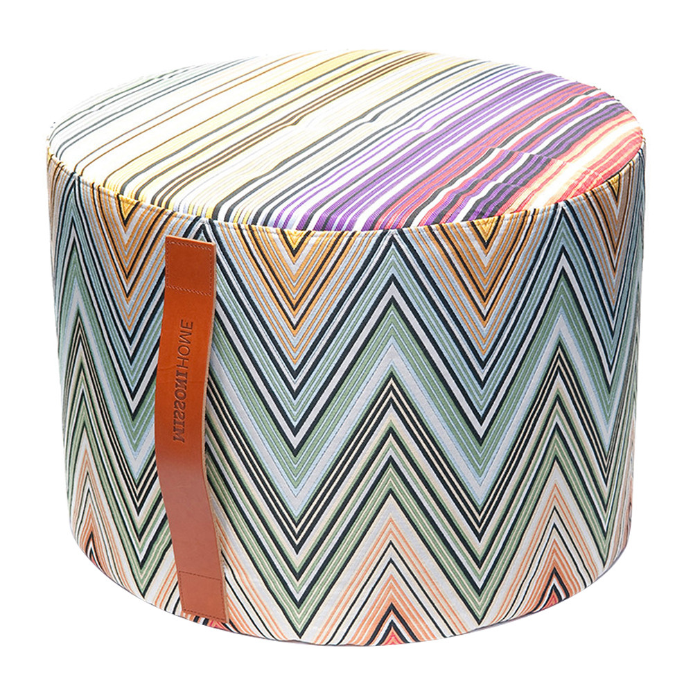 Buy Missoni Home Kew Cylindrical Pouf - T59 - 40x30cm | Amara - Missoni Home - Kew Cylindrical Pouf - T59 - 40x30cm