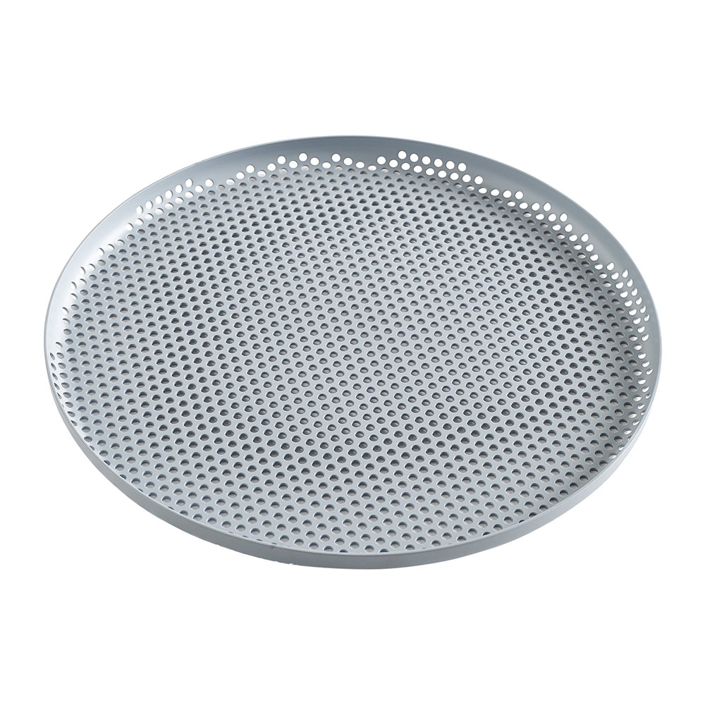 HAY - Perforated Aluminum Tray - Large - Dusty Blue