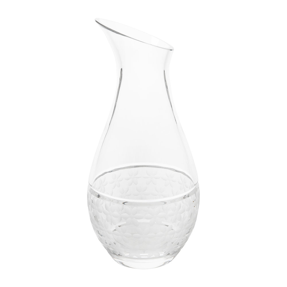 Bunzlau Castle  Whispering Water Lily Glass Carafe