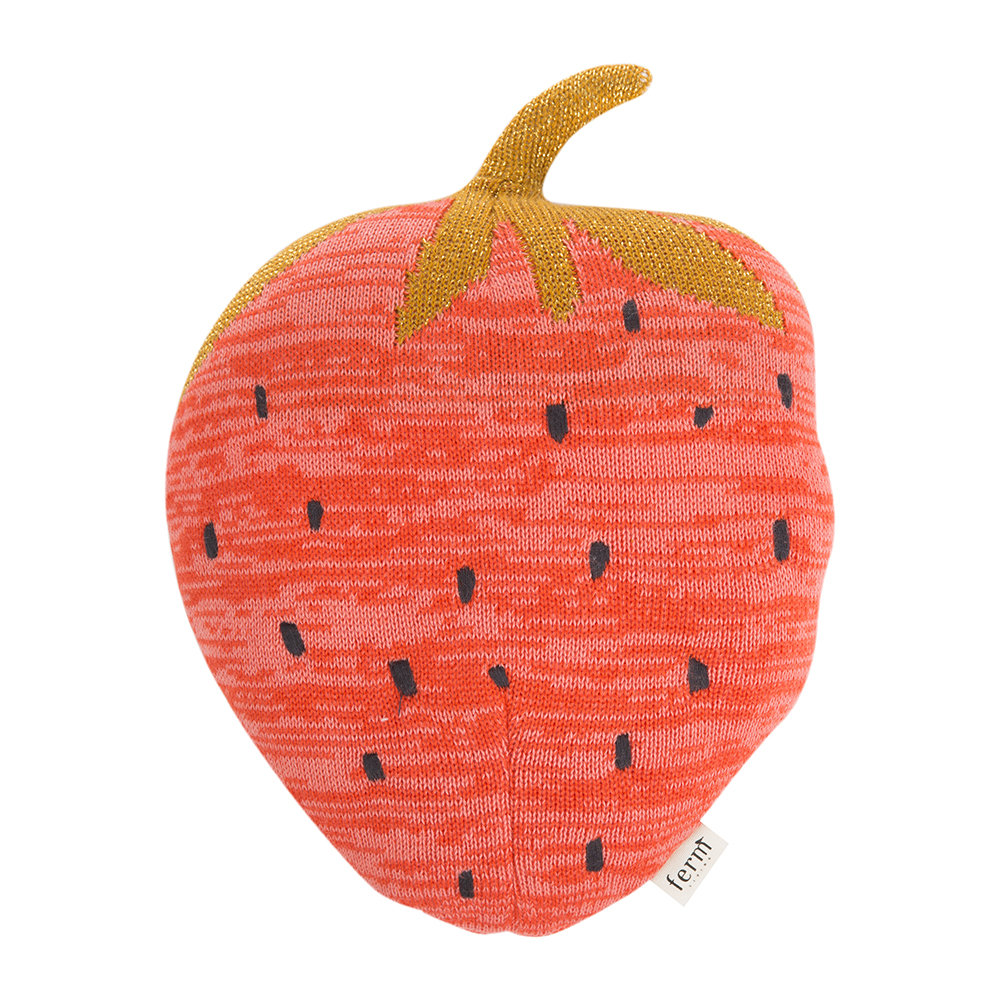 Ferm Living  Fruiticana Knitted Pillow  Strawberry