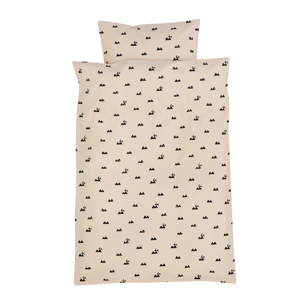 Ferm Living  Rabbit Duvet Set  Rose  Single