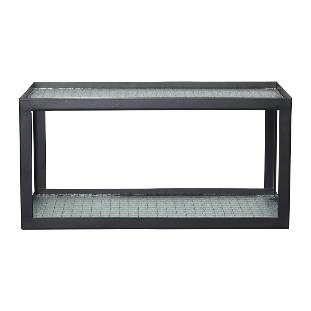 Ferm Living - Glass Haze Shelf With Metal Frame - Black