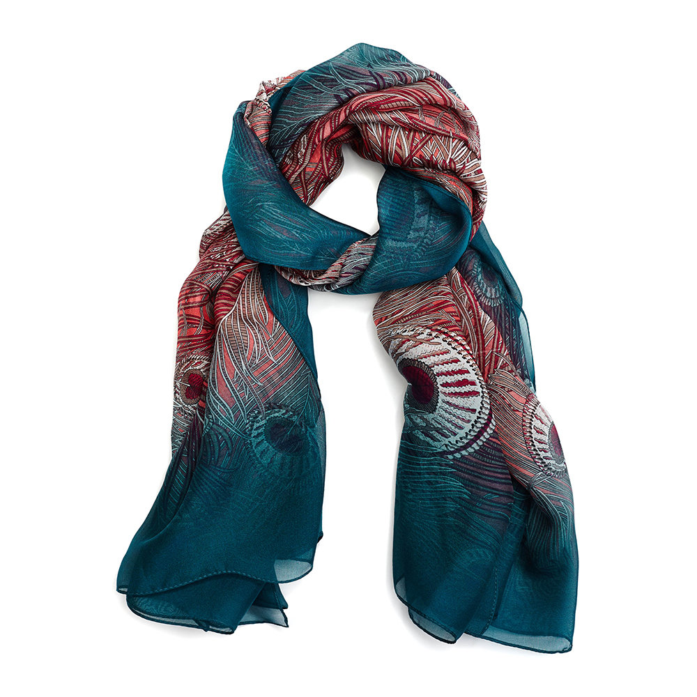 Liberty London - All O Hera Scarf - 110x130cm - Dark Green
