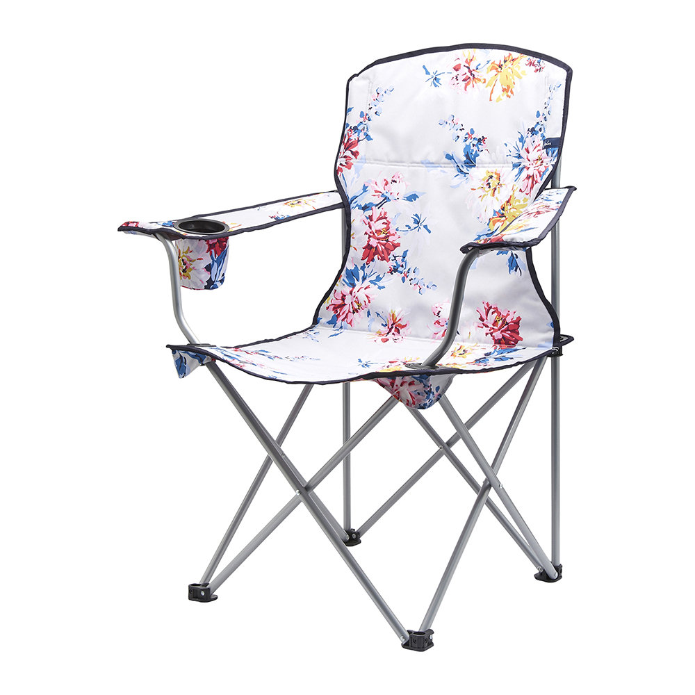 Buy Joules Folding Picnic Chair Grey Whitstable Floral