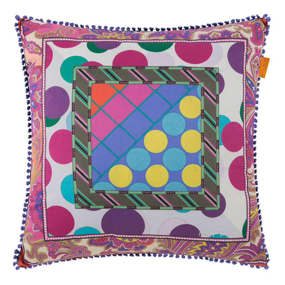Etro  Maddalena Multicolored Pillow  45x45cm  Design 1