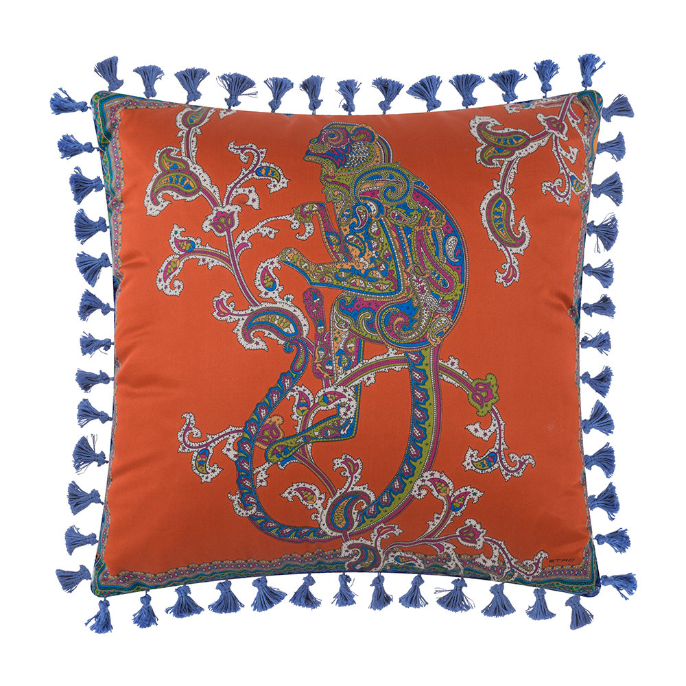 Etro  Mowgli Tassel Edged Animal Pillow  45x45cm  Design 2