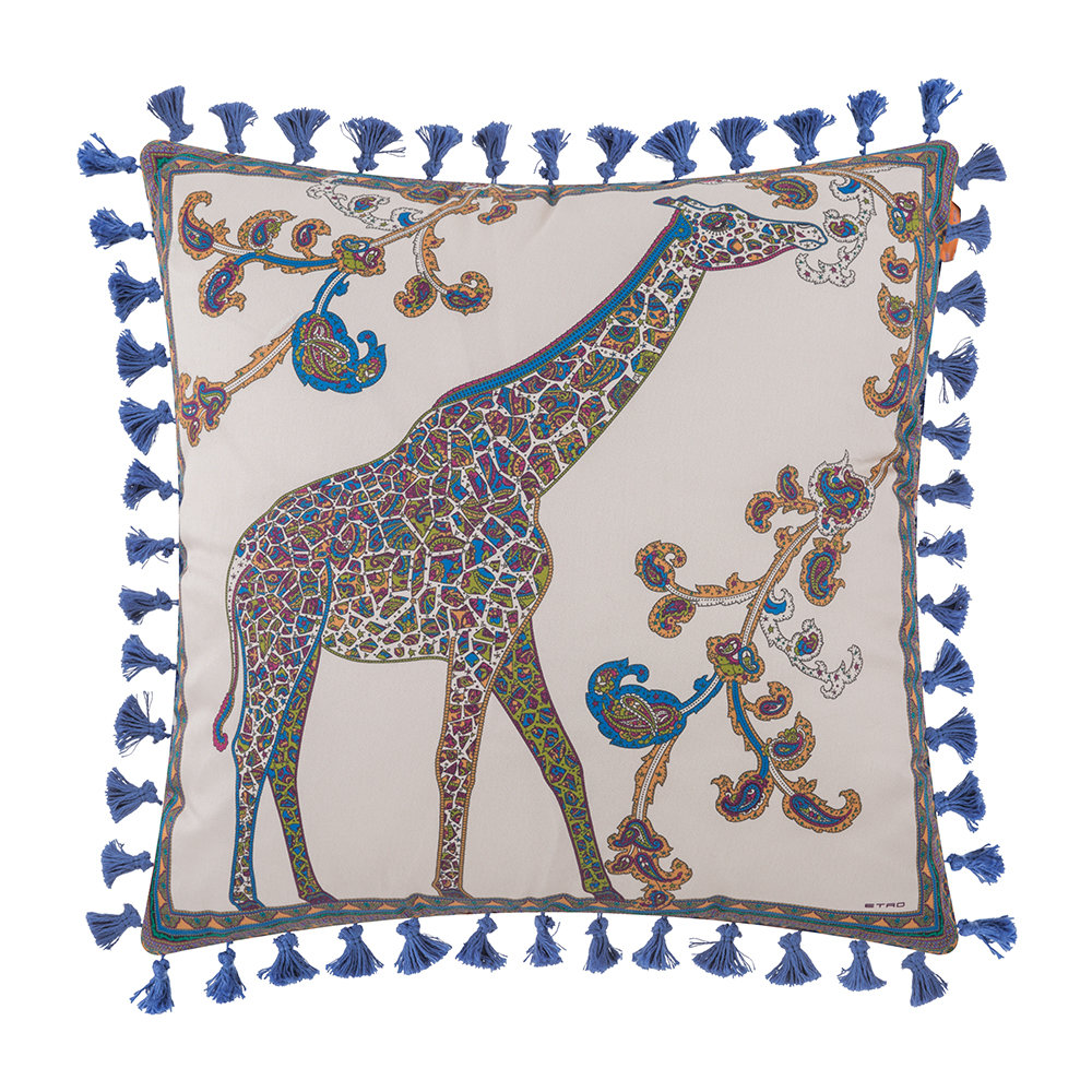 Etro  Mowgli Tassel Edged Animal Pillow  45x45cm  Design 3