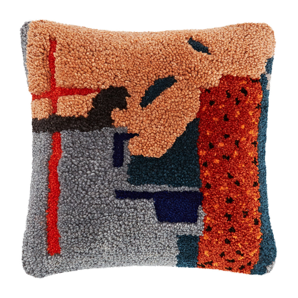 Tom Dixon - Abstract Hand Tufted Cushion - 45x45cm - Pink