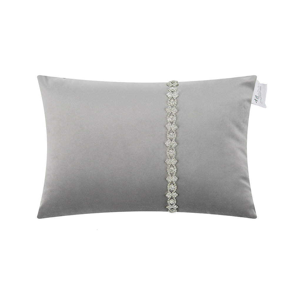 Kylie Minogue at Home  Lanie Bed Pillow  Silver  25x40cm