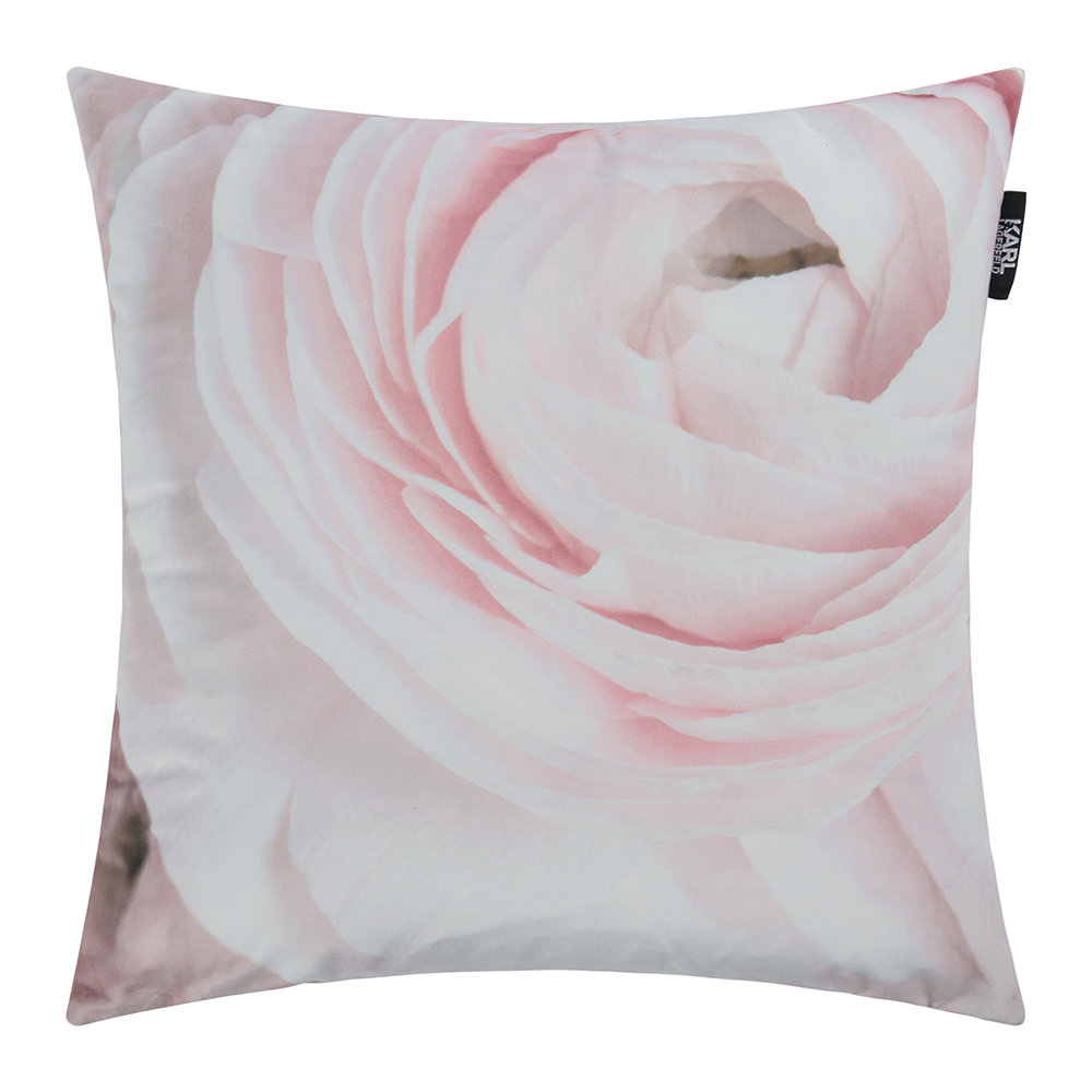 Karl Lagerfeld  Rana Rose Bed Cushion  Pink  45x45cm