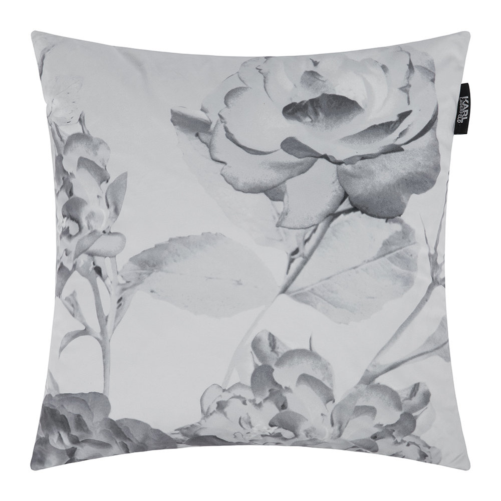 Karl Lagerfeld  Senna Floral Bed Cushion  Rose  45x45cm