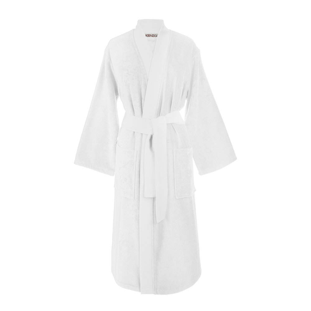 Buy Kenzo Iconic Bathrobe White Amara