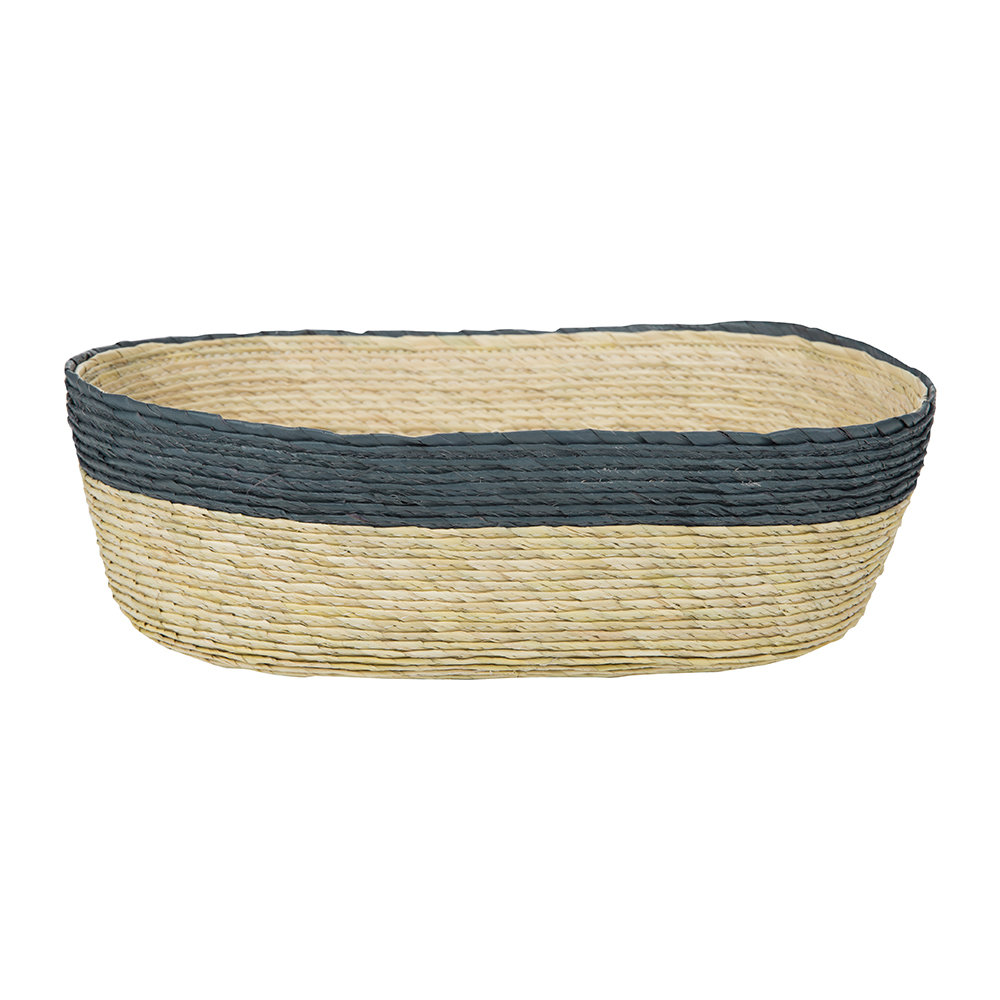 Baolgi - Oval Stripe Basket - Navy